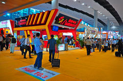 Electronics pavilion at canton fair 2011 Royalty Free Stock Photo