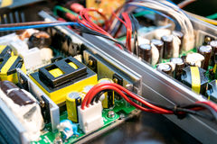 Electronics powers control. Royalty Free Stock Photography