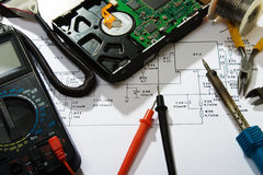 Electronics repair stock photo