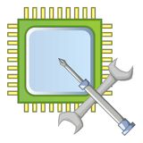 Electronics repair icon, cartoon style. Electronics repair icon. Cartoon illustration of electronics repair vector icon for web design Royalty Free Stock Photo