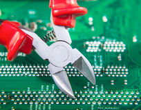 Electronics repair Royalty Free Stock Photography