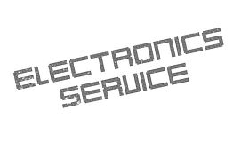 Electronics Service rubber stamp Royalty Free Stock Photos