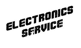 Electronics Service rubber stamp Stock Image