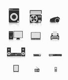 Electronics. A set of electronics for various purposes Stock Image