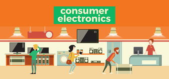 Electronics shop vector illustration Royalty Free Stock Photos