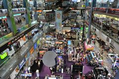 IT and Electronics Shopping Mall in Bangkok. Shoppers visit Panthip Plaza, the largest IT and electronic goods mall in Thailand, on March 5, 2012 in Bangkok Royalty Free Stock Image