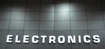 Electronics sign. Close up of an electronics signage royalty free stock photos