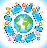 Electronics Social Media communication Stock Photo