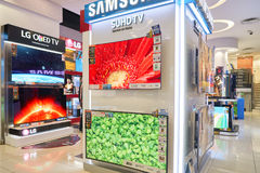 Electronics store in Hong Kong Stock Photography