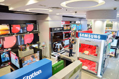 Electronics store in Hong Kong Royalty Free Stock Photography