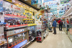 Electronics store in Hong Kong. HONG KONG - CIRCA NOVEMBER, 2016: interior of a electronics store in Hong Kong royalty free stock photo