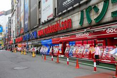 Electronics store in Japan royalty free stock image