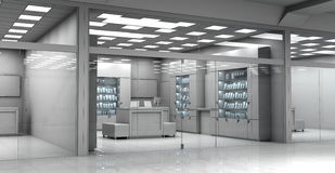 Electronics store room. Without people. Royalty Free Stock Photo