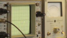 Electronics technician oscilloscope stock video