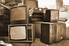 Electronics TV, retro technology Stock Image