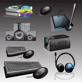 Electronics - Vector electronic equipment icon set Stock Images