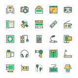 Electronics Vector Icons 4. This Electronics icon pack is absolutely bursting with  resources that you will love to use for your next technology and electronics Royalty Free Stock Photos