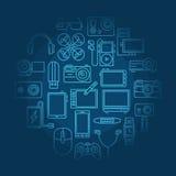 Electronics vector illustration Royalty Free Stock Image