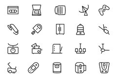 Electronics Vector Line Icons 7. This Electronics Icon Pack is absolutely bursting with  resources that you will love to use for your next technology and Royalty Free Stock Image
