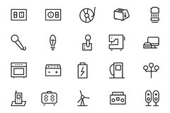 Electronics Vector Line Icons 6 Stock Photography