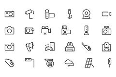 Electronics Vector Line Icons 5 Royalty Free Stock Photos