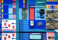 Electronics on a wall Stock Photography