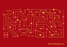 Electronics web banners .Computer Chips ,retro stock illustration
