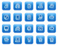 Electronics web icons Royalty Free Stock Images