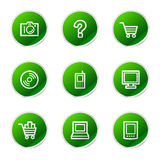 Electronics web icons Stock Image