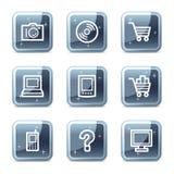 Electronics web icons Royalty Free Stock Image