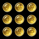 Electronics web icons Royalty Free Stock Image