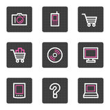 Electronics web icons Stock Images