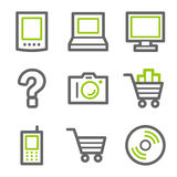 Electronics web icons Stock Photo