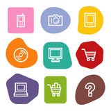 Electronics web icons, colour spots series Royalty Free Stock Photo