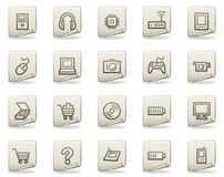 Electronics web icons, document series Stock Photo