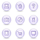 Electronics web icons, glossy pearl series Royalty Free Stock Photos