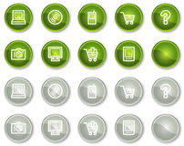 Electronics web icons set 1, circle buttons series Stock Images