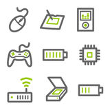Electronics web icons set 2 Stock Image