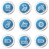 Electronics web icons set 2, blue sticker series Royalty Free Stock Image