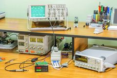 Electronics workshop Royalty Free Stock Images