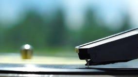 Electrophone needle on vinyl stock video