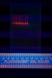 Electrophoregram van de scheiding van DNA Stock Foto