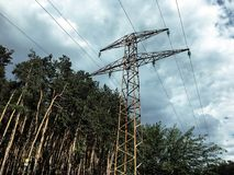 Electroplate near the forest. Outdoor Stock Photos