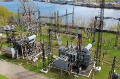electropowervärmestation Arkivbild