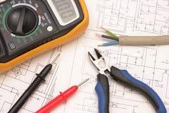 Electroreplacement Hilfsmittel auf der Zeichnung Lizenzfreies Stockfoto
