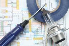 Electroscheme Royalty Free Stock Image