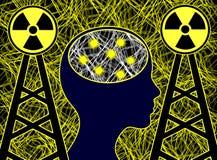 Electrosmog beeinflußt das Gehirn vektor abbildung