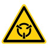 Electrostatic Sensitive Device (ESD) Symbol Sign Isolate On White Background,Vector Illustration vector illustration