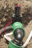 Electroválvula de los sistemas de riego automáticos Foto de archivo libre de regalías