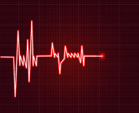 Electrowave heart beat, cardiogram. Pulse icon Royalty Free Stock Images